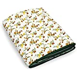 AS42 Single Bed AC Dohar Blanket Quilt (Polyester, Multicolor, Floral)