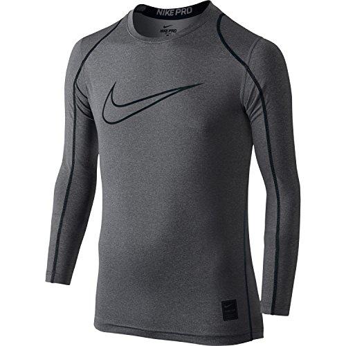 Boy's Nike Pro Cool Compression Top (Carbon Heather,Medium)