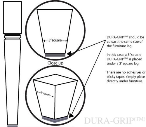 Dura Grip Non Slip Gripper Pads Stop Furniture From