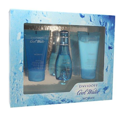 Davidoff Cool Water Geschenkset femme / woman, eau de toilette, vaporisateur / spray 30 ml, duschgel 50 ml, bodylotion 50 ml, 1 Set