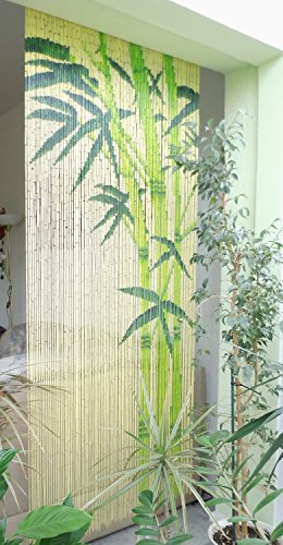 Bambusvorhang Türvorhang Dekovorhang Modell Bamboo 99 Stränge 90cm x 200cm mit Aufhängeleiste