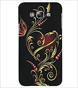 PrintDhaba Floral Design D-5314 Back Case Cover for SAMSUNG GALAXY A7 (Multi-Coloured)