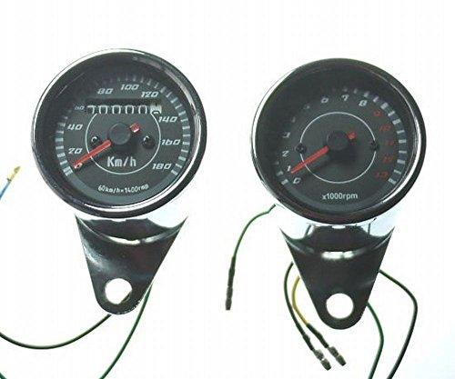 NeedNetwork 機械式 スピードメーター 180km 電気式タコメーター 1300回転 セット V字ステー本体付属 汎用 モンキー SR