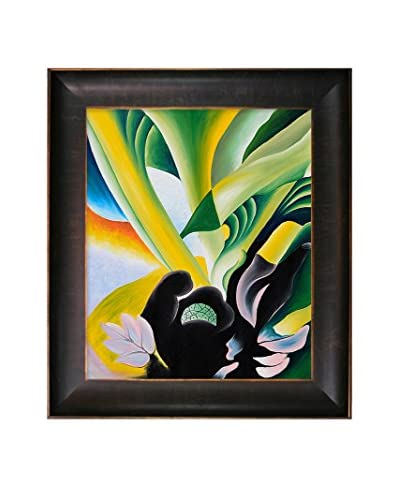 Georgia O'Keeffe  Skunk Cabbage Framed Hand-Painted Reproduction