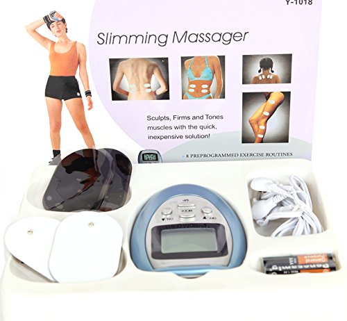 4 Pads Electronic Pulse Burn Fat Slimming Massager