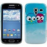 kwmobile �tui rigide Motif oiseau pour Samsung Galaxy Ace 2 i8160 en bleu clair rouge