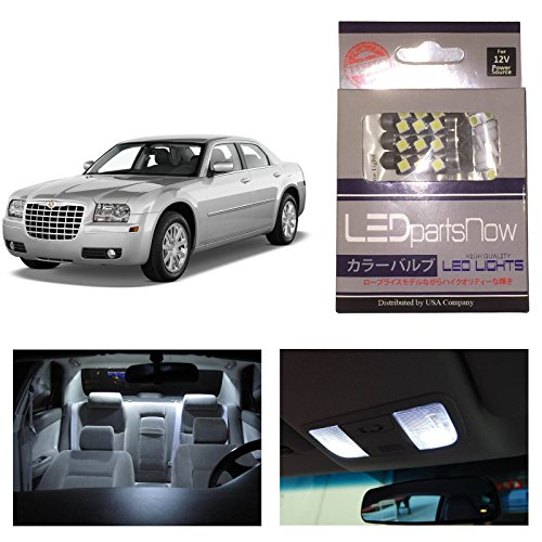Ledpartsnow Chrysler 300 2005-2010 Xenon White Premium Led Interior Lights Package Kit (6 Pieces)