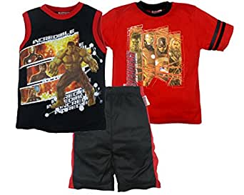 Avengers Age of Ultron Boys Basketball Shirts and Shorts, 3 Piece Set