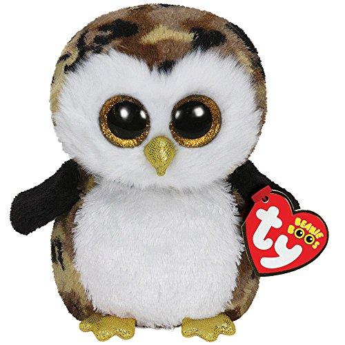 Ty Beanie Boos Owliver the Camo Owl Medium Plush - 1