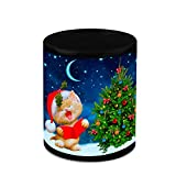 Christmas Gifts HomeSoGood Beautiful Christmas Kitten Black Ceramic Coffee Mug - 325 Ml