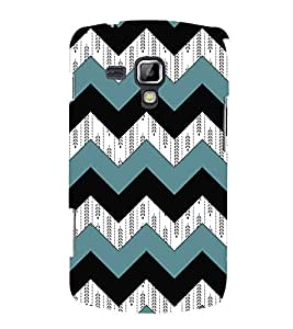 3D Zig Zag Pattern Cute Fashion 3D Hard Polycarbonate Designer Back Case Cover for Samsung Galaxy S Duos 2 S7582 :: Samsung Galaxy S Duos II