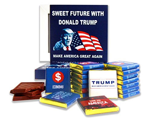 FUNNY TRUMP CHOCOLATE GIFT⚝ - POLITICAL CHOCOLATE⚝ Sweet future with Donald Trump! Chocolate gift