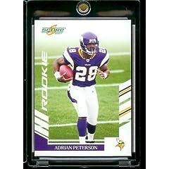 2007 Score # 341 Adrian Peterson - Minnesota Vikings - NFL Football Rookie (RC) Card by SCORE