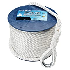 Buy Dock-Rite 70695 Twisted Anchor Line, 1 2-Inch x 200-Feet, White by Dock-Rite