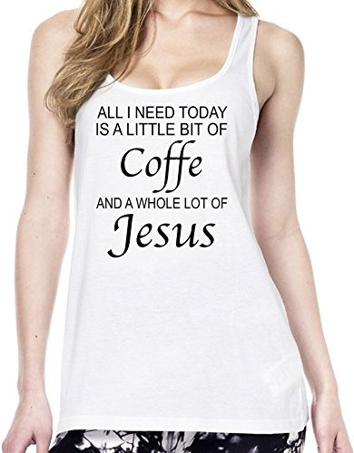 all-i-need-is-big-of-coffe-and-whole-lot-of-jesus-funny-camiseta-estilo-toenica-mujeres-large