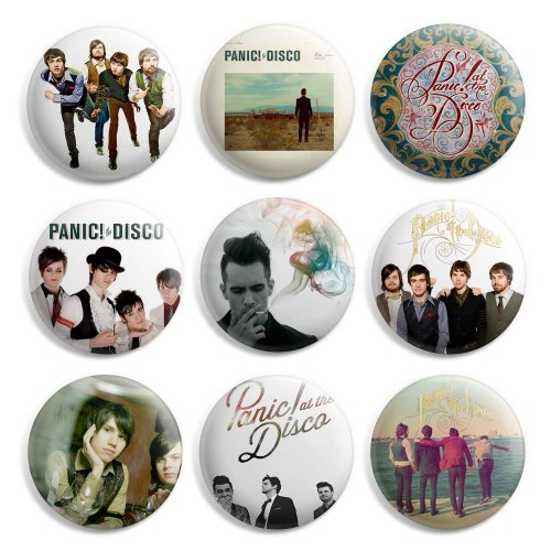 panic-at-the-disco-pinback-buttons-pin-badges-1-inch-25mm-pack-of-9