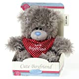 Me To You Tatty Teddy Bear Wearing Scarf for A Cute Boyfriend (Grey)