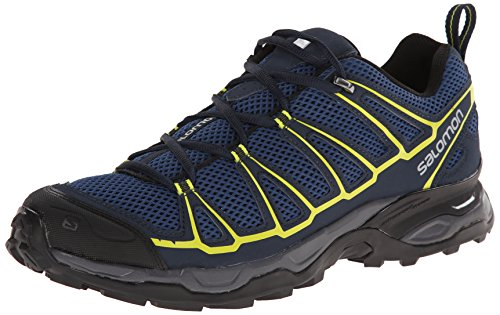 Salomon Men's X Ultra Prime Multifunctional Hiking Shoe, Fjord/Deep Blue/Gecko Green, 9 M US