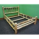 Midwest Log Furniture- Rustic Log Bed - King