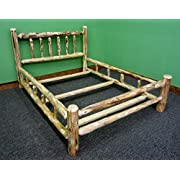 Midwest Log Furniture- Rustic Log Bed - King