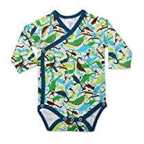 Zutano Baby-Boys Newborn Dinos Long Sleeve Body Wrap, Cream, 3 Months