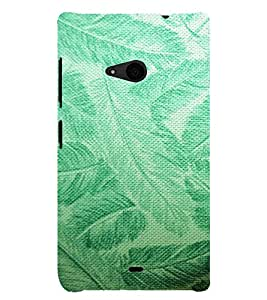 ARTISTIC LEAVES PATTERN DEPICTING THE BEAUTY OF NATURE 3D Hard Polycarbonate Designer Back Case Cover for Nokia Lumia 535 :: Microsoft Lumia 535