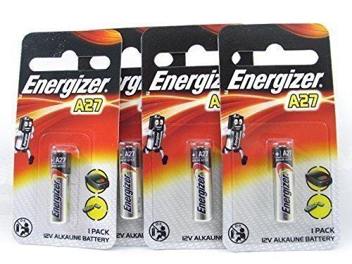 4 Energizer 27A / A27 / MN27 12 Volt Batterie Pile alcaline, longue durée de conservation (date d'expiration marqué)