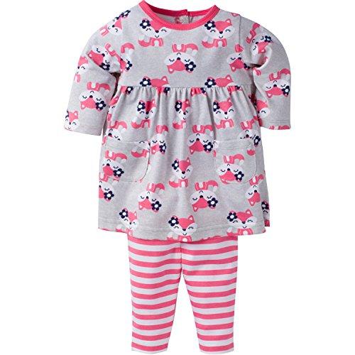 Gerber Girls' Dress and Legging Set, Fox, 6-9 Months