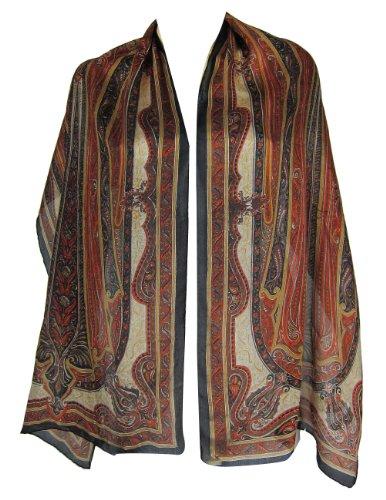 Scarves And Wraps Women SilkPrinted RectangularIndian Dress 55 cm x 182 cm