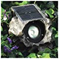 JIAWEI TECHNOLOGY G3149-P2-GN-1 Four Seasons Courtyard High Output 2 Natural White LEDs Solar Rock Flood Light