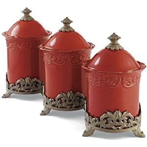 Chris Madden Corvella set of 3 Canisters