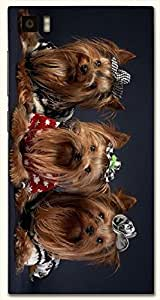Remarkable multicolor printed protective REBEL mobile back cover for Xiaomi Mi 3 D.No.N-T-3128-XM3
