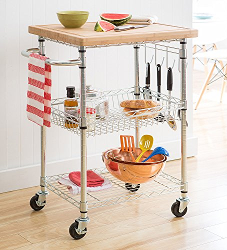 TRINITY EcoStorage Bamboo Kitchen Cart (Bamboo Kitchen Carts And Islands compare prices)