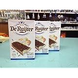De Ruijter Chocolade Hagelslag Melk (Deruyter Milk Chocolate Sprinkles)Milch schokoladen Streuse 3 pack 14oz /400gram ea