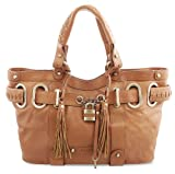 Bovari Whiskybraun XL Padlock Shopper Damen Handtasche - echt Leder - vintage whiskey - super soft limited edition
