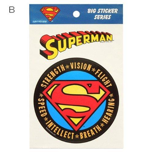 スーパーマン/SUPERMAN《Sシールド》ビッグサイズステッカーアメコミキャラクターグッズ通販【B】