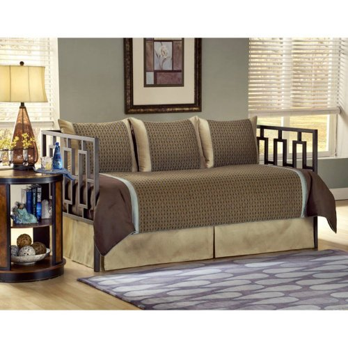 Southern Textiles Southern Textiles Stockton Daybed Ensemble, Brown, 100% Polyester, Daybed front-950705