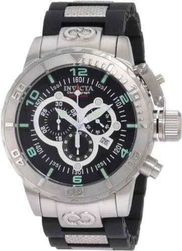 Invicta Men's 6674 Corduba Chronograph Black Dial Polyurethane Watch