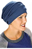 100% Cotton Slouchy Cap: Head Covering, Snood, Cancer Hats for Women - Chemo Patients