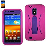 Generic Hybrid Case for Samsung Galaxy S II - Hot Pink/Purple
