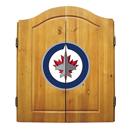 Nhl Winnipeg Jets Team Dartboard Cabinet Set