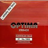 [OPTIMA]オプティマ マンドロンチェロ弦 レッド セット弦 8本入り