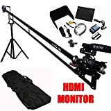 Indy Jib 12' Camera Crane Deluxe Production Package w/ 1080P HDMI Monitor