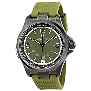Victorinox Mens 241595 Night Vision Analog Display Swiss Quartz Green Watch by Victorinox