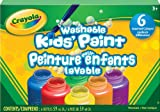 Crayola Washable Kid's Paint (6 Assorted Colors) 2 oz Each