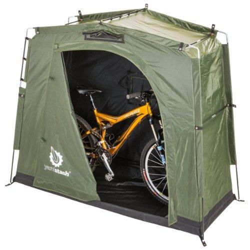 The YardStash III: New! Space Saving Outdoor Bike Storage, Garden Storage and Pool Storage