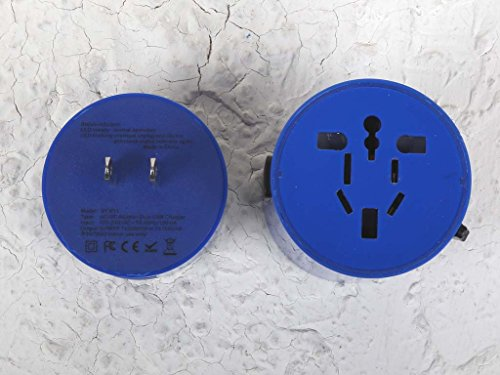 Salvador Bachiller - Adaptateur de Voyage Avec Hub Usb - Digital Sb HS-8778 - Bleu