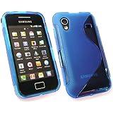 Kit Me Out ES Funda de gel TPU para Samsung Galaxy Ace S5830 - Azul Formas de onda