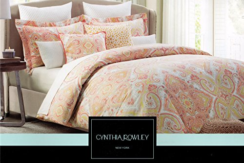 Cynthia Rowley King or Queen Duvet Cover Set Paisley