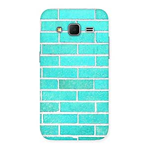 Premium Brick Cyan Back Case Cover for Galaxy Core Prime